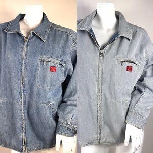 Vintage Gap XL Reversible Denim Jean Jacket